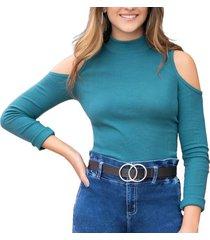 blusa leyre verde para mujer croydon