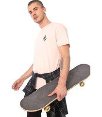 camiseta volcom deadly stone rosa - rosa - masculino - dafiti