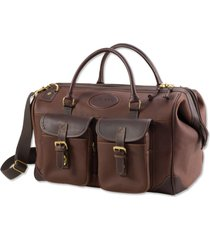bullhide leather weekend carry-on, brown
