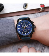 reloj para hombre/correa de piel/ mini focus / 0082g /-negro