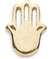 18k yellow gold hand of fatima charm - have faith