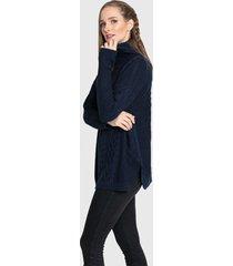 sweater privilege tejido azul - calce oversize