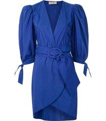 adriana degreas buckled short dress - blue