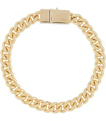 tom wood rounded curb bracelet - gold