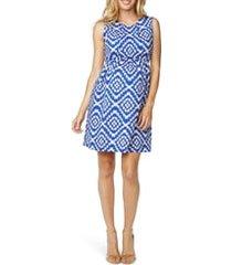women's maternal america textured maternity dress, size small - blue