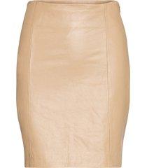 2nd electra kort kjol beige 2ndday