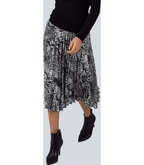 rok alba moda zilvergrijs::zwart