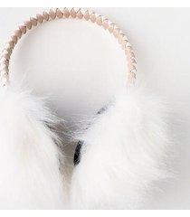 kim furry earmuffs - blush