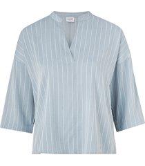 blus vmkarolina 3/4 v-neck blouse