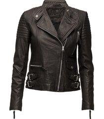 city biker leather jacket leren jack leren jas zwart mdk / munderingskompagniet