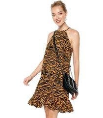 vestido animal print glamorous