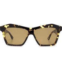 bottega veneta bottega veneta bv1093s havana sunglasses
