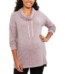 motherhood maternity cowl-neck sweatshirt