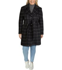 jones new york plus size single-breasted notch-collar coat