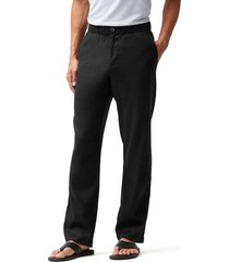 men's tommy bahama relaxed fit linen pants, size x-large - black
