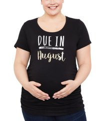 motherhood maternity plus due in maternity graphic tee, plus size short sleeve