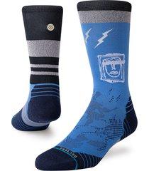 men's stance shatter crew socks, size large - black