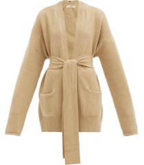 no.154 care belted stretch-cashmere cardigan