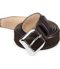 truman veloucal adjustable leather & suede belt