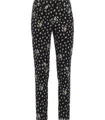 dondup perfect jacquard cotton blend trousers