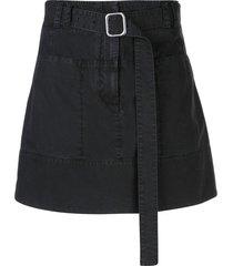 proenza schouler white label belted a-line skirt - black