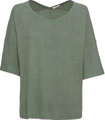 shirt van bourette-zijde met vleermuismouwen, steengroen 50