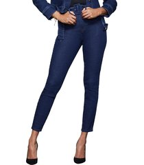 women's good american good curve belted skinny jeans, size 15 - blue