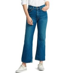 jeans laight cropped flare azul polo ralph lauren