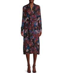 veronica beard women's leanne silk-blend floral dress - black multi - size 2