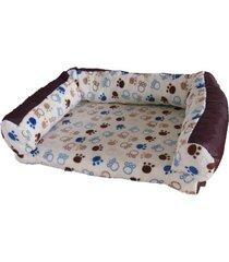 cama para perro tipo sofá mediano - beige