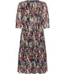 slpoppie dress knälång klänning multi/mönstrad soaked in luxury