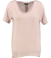 broadway langer viscose stretch shirt nude pink