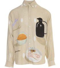 jacquemus henri printed shirt