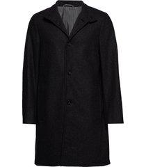 wool cashmere blend funnel coat wollen jas lange jas grijs calvin klein