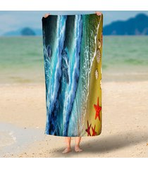 dolphin-starfish-conch-sea-tide-3d-print-rectangle-large-microfiber-beach-throw-