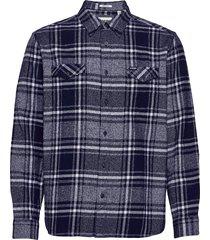 ls 2pkt flap shirt skjorta casual blå wrangler