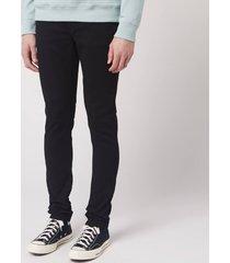 nudie jeans men's skinny lin skinny jeans - black black - w33/l34