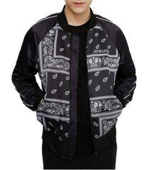 elevenparis men's all over print bomber jacket