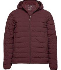 puffer jacket gevoerd jack paars abercrombie & fitch