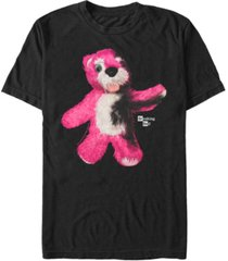 fifth sun men's burnt pink teddy bear portrait logo short sleeve t- shirt