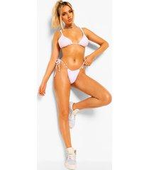 essentials driehoek bikini top met dubbele bandjes, wit
