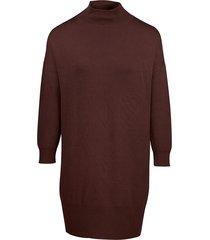 zilch jurk knit plain aubergine bordeaux