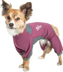 dog helios 'rufflex' breathable full bodied performance dog warmup track suit
