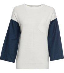 maglione con denim (beige) - rainbow