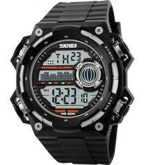 relógio skmei digital 1115 - preto e prata