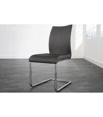 krzesło minimalistyczne szare tapicerowane