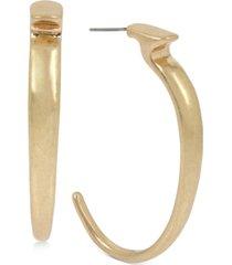 robert lee morris soho gold-tone sculptural skinny hoop earrings