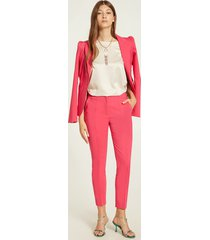 motivi blazer con bottone gioiello donna rosa