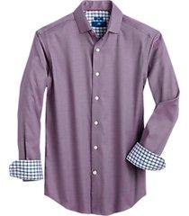 egara raspberry micro check slim fit sport shirt