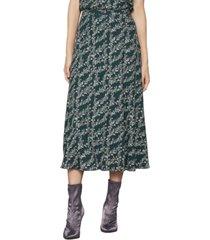 bcbgmaxazria vine-print maxi skirt